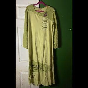 Boho Blue Cactus Vintage maxi dress